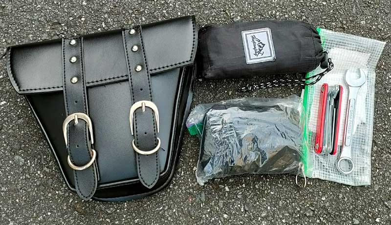 ホンダ レブル250のツールバッグに収納したもの