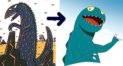 原作と映画版の肉食恐竜ハート